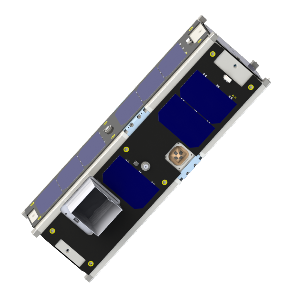 3D render of IT-SPINS 3U CubeSat
